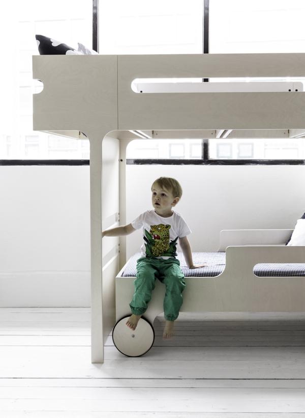 bunk bed whitewash