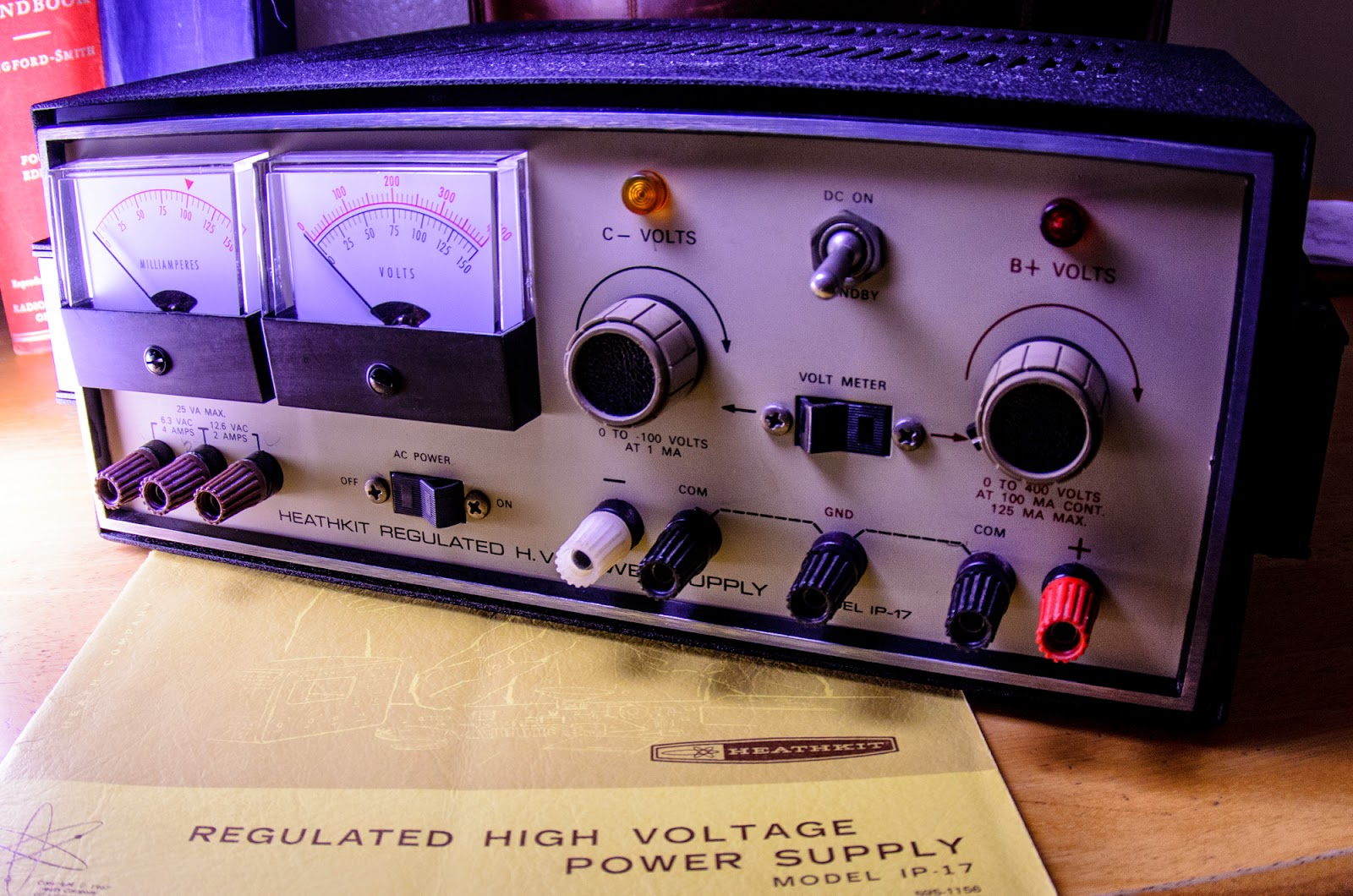 Trenton Blizzard Heathkit IP-17 Vacuum Tube Power Supply