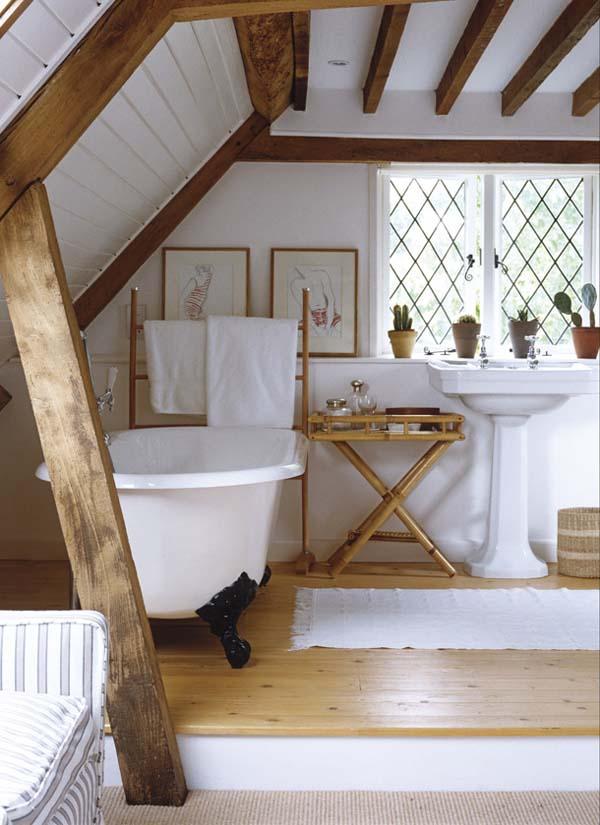 baños naturales - madera y ceramica