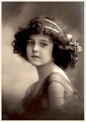 foto vintage de niña antigua