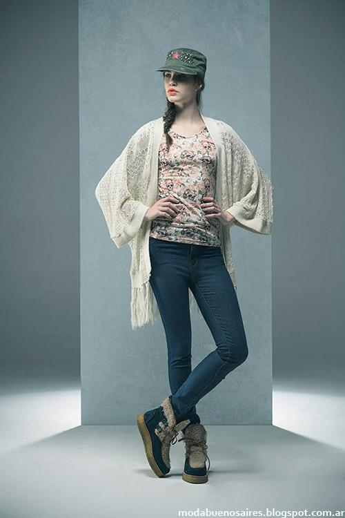 Kimonos invierno 2015 Doll Store. Moda invierno 2015.
