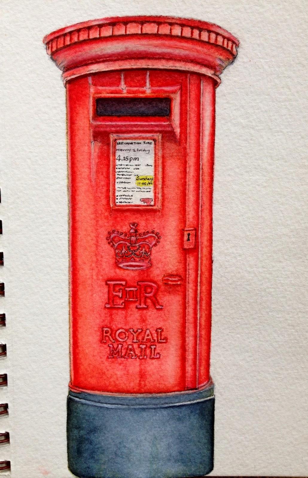 Artful Evidence Sketch - UK Post Box