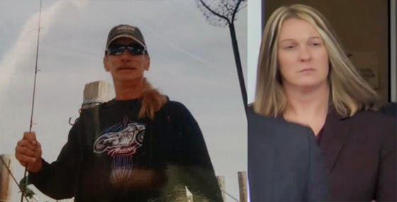 The victim, David Kassick (left) and his killer Lisa Mearkle, who was charged with homicide