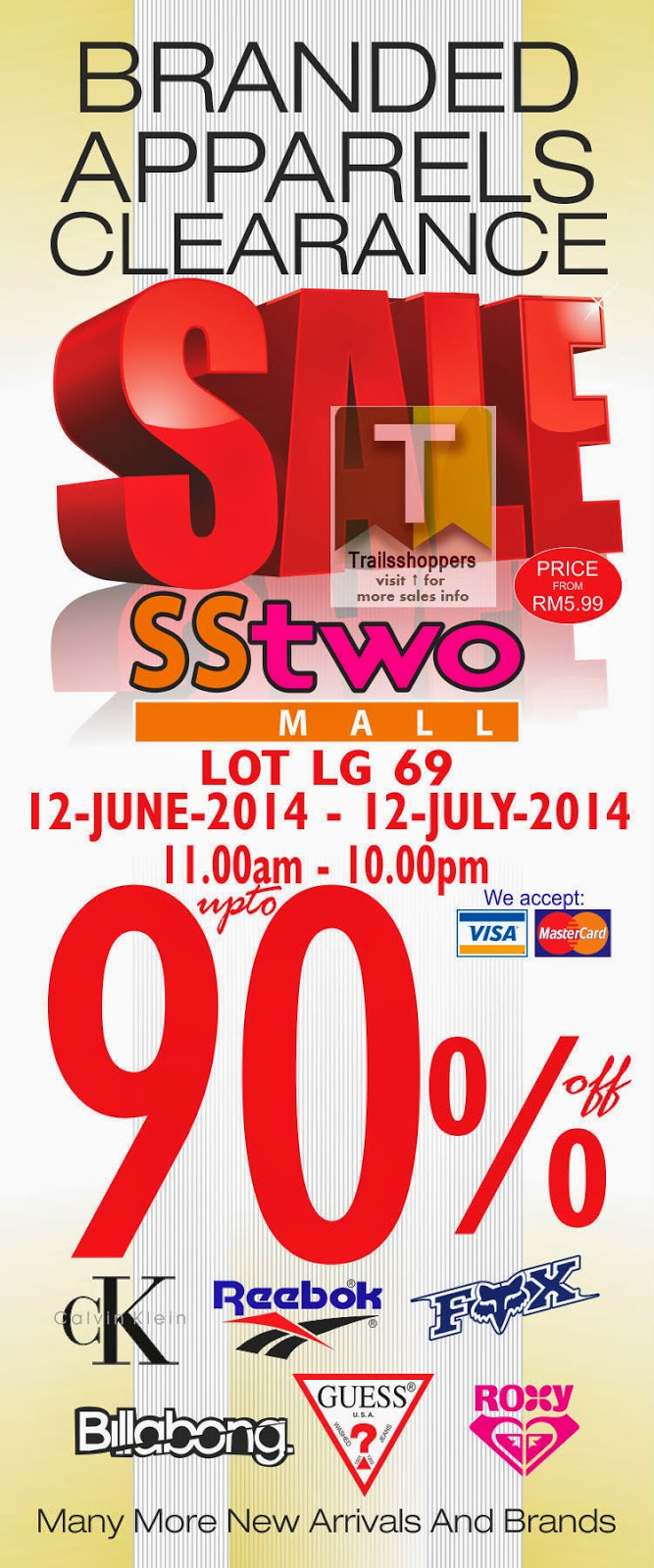 Branded Apparels Clearance Sale @ SStwo Mall Up