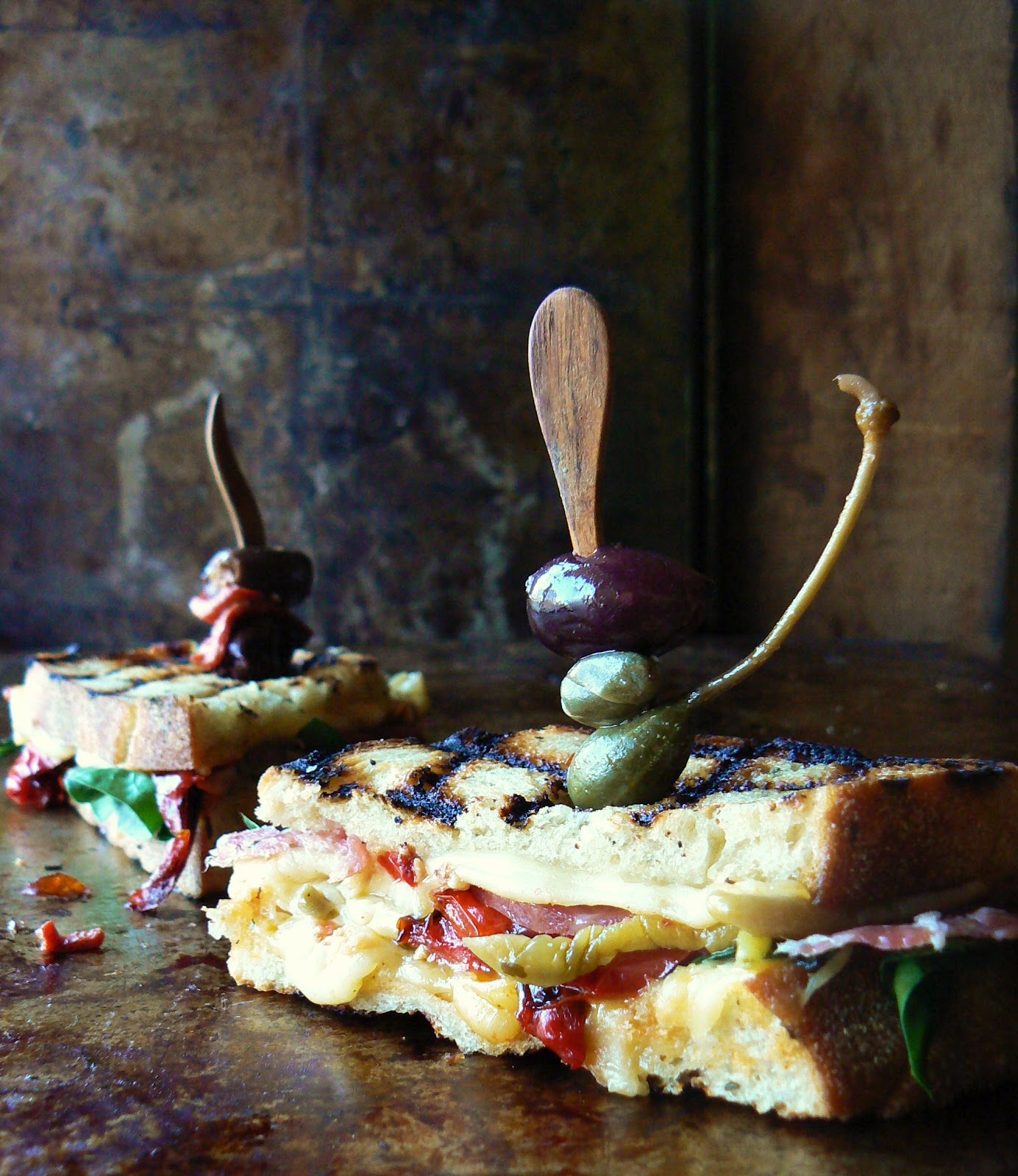 ... Brooklyn Ragazza: Antipasto Grilled Cheese on Rosemary Peasant Bread