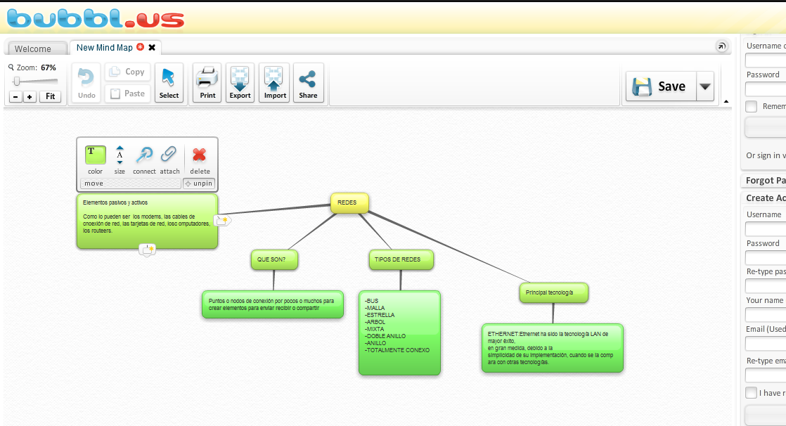 Hacer mapa conceptual On liine sin programas