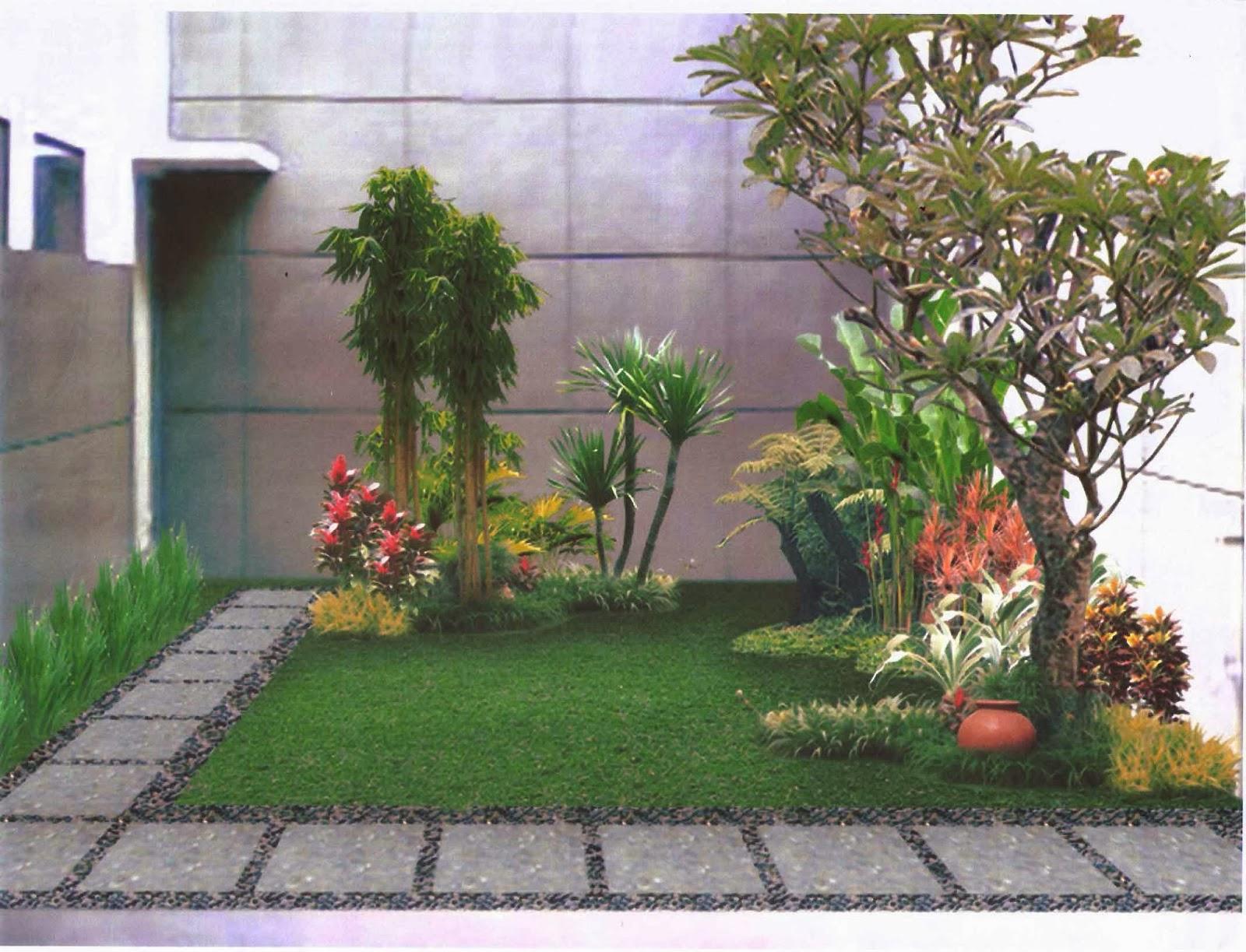 Tips merawat taman mungil depan rumah desain denah rumah - Suelos para jardines pequenos ...