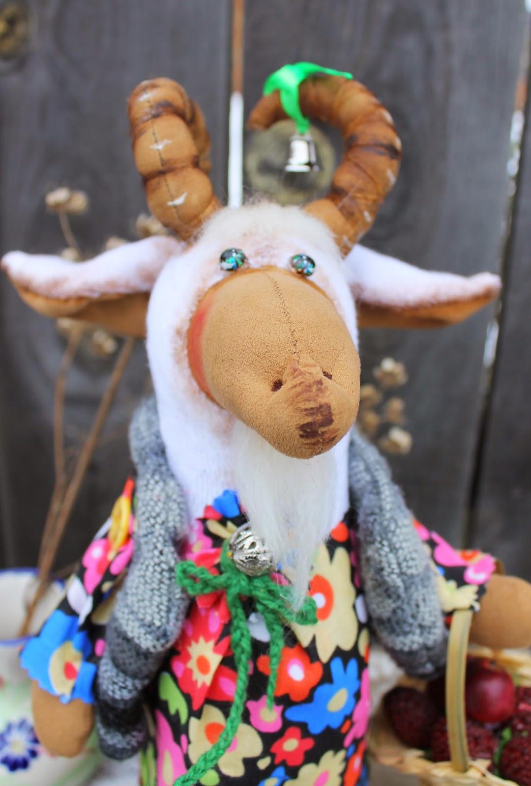 Символ 2015 года. Коза. Текстильная игрушка