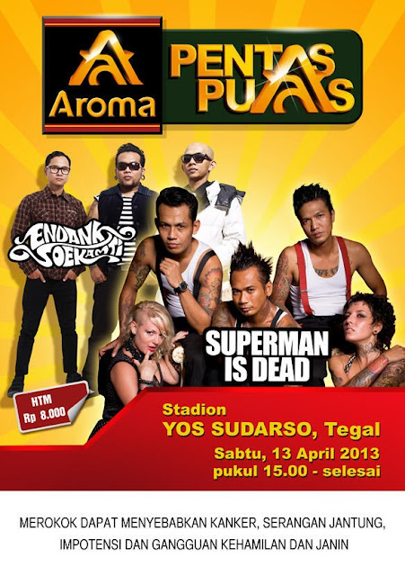 Superman Is Dead Feat Endank Soekamti Akan Konser di Tegal