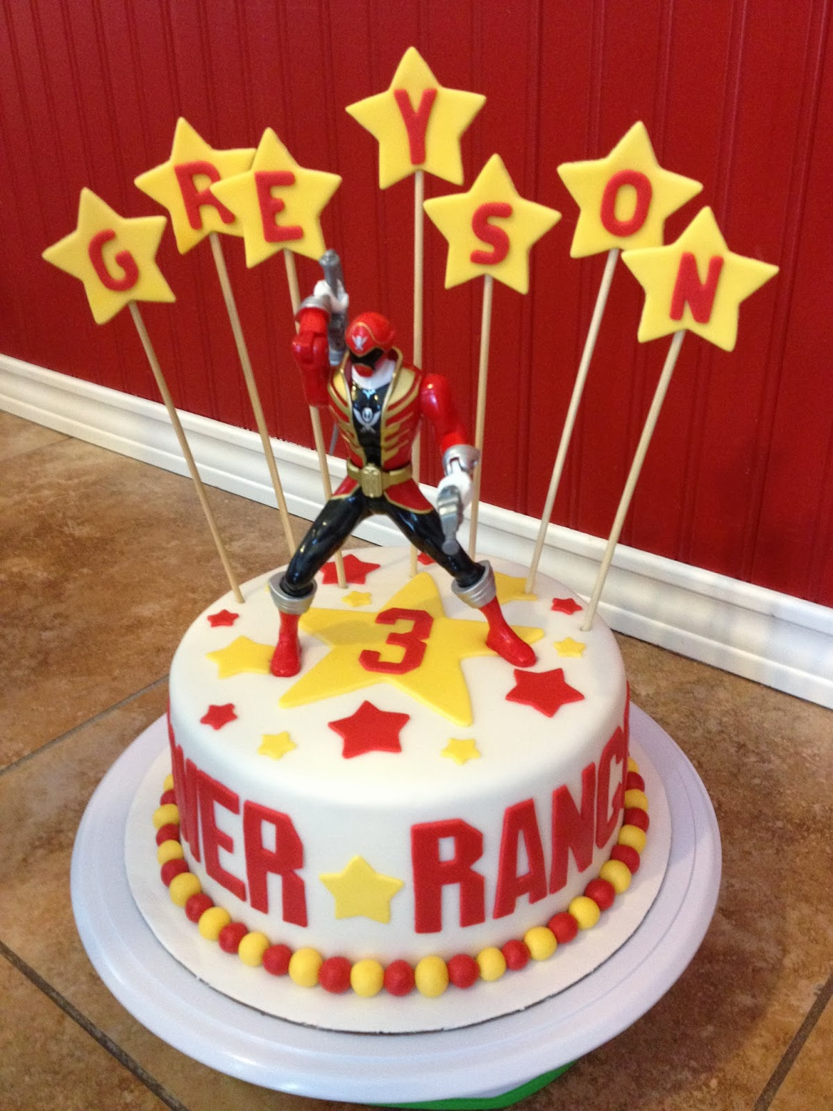 birthday cakes power rangers