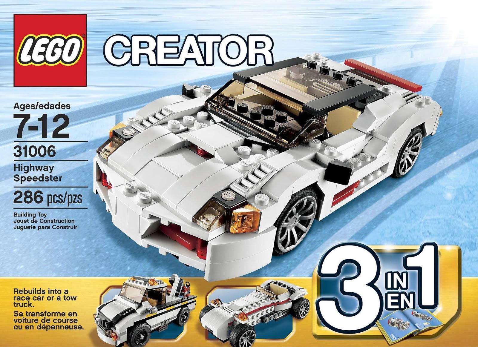 Onetwobrick Set Database Lego 31006 Highway Speedster