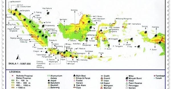 Peta Persebaran Sumber Daya Alam Coretan Guru