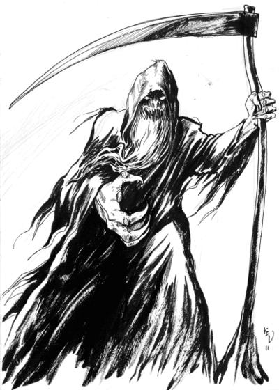 Grim reaper - Manden med leen - Døden