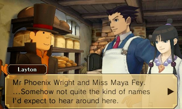 Professor Layton vs Phoenix Wright screen