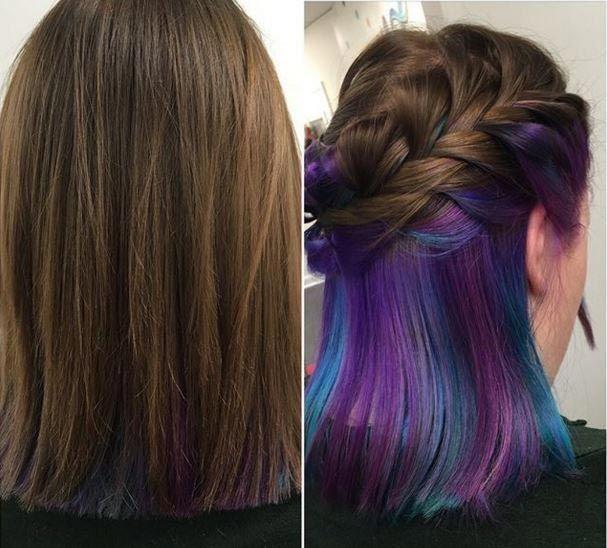 Underneath Hair Color Styles Whose Brightness Hidden Under Hair