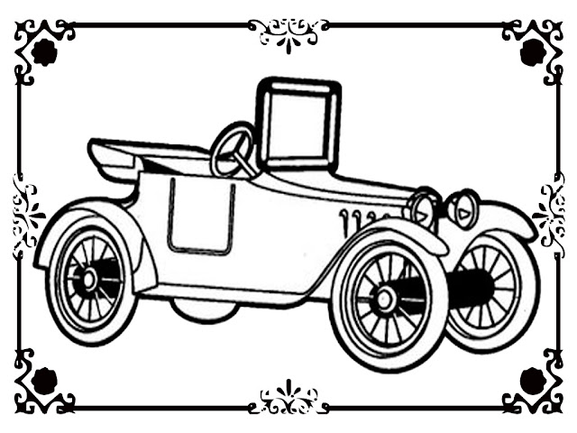 Free Antique Car Printable Coloring Pages