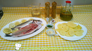 ingredientes lubina al horno