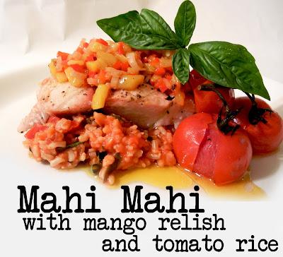 Derek's Kitchen: Mahi Mahi with Mango Relish and Tomato Rice