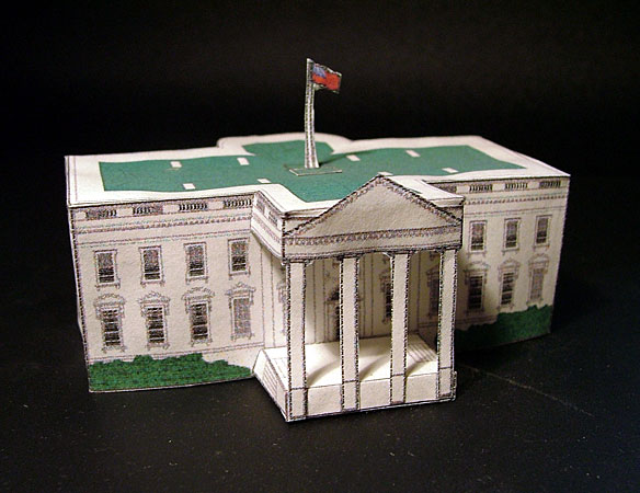 Paper Crafting White House Papercraft