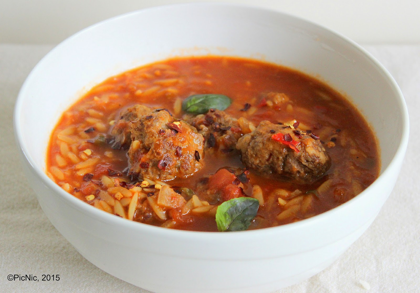 Spiced Beef Risoni Soup