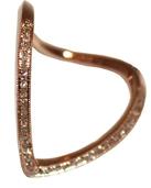 Rose Gold Diamond X Cuff