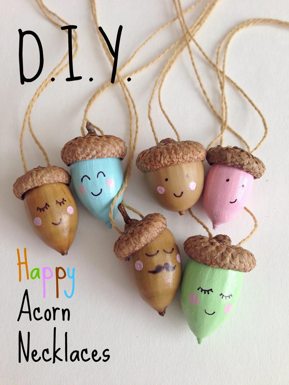 Whimsy love diy happy acorn necklaces for Diy acorn crafts