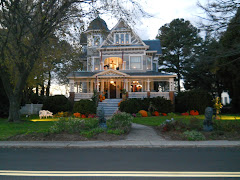 Hallowe'en decorations in Reedville, VA.  They went all out!