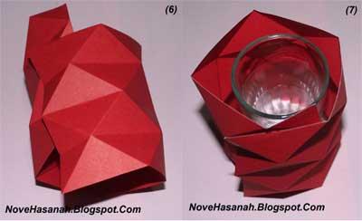 Contoh Kerajinan Tangan dari Kertas : Mempercantik Vas Bunga dari Gelas 7