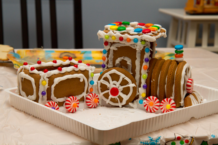 attempt at a gingerbread train