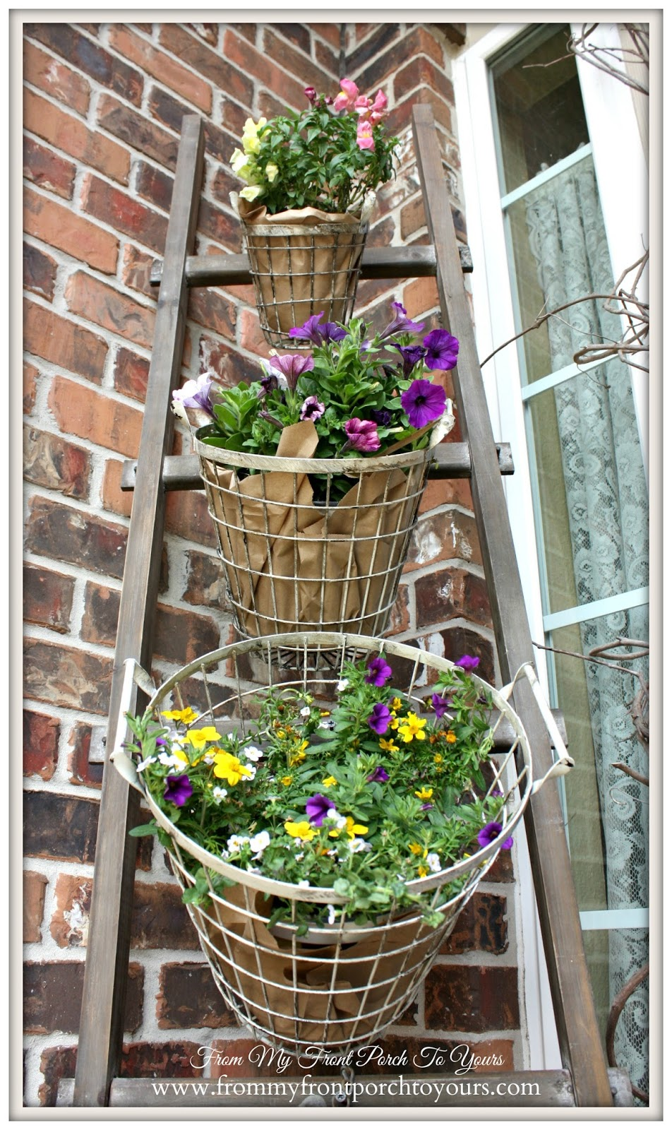 Vintage Farmhouse Trio Baskets-Design Ingenuity Event- Decor Steals-From My Front Porch To Yours