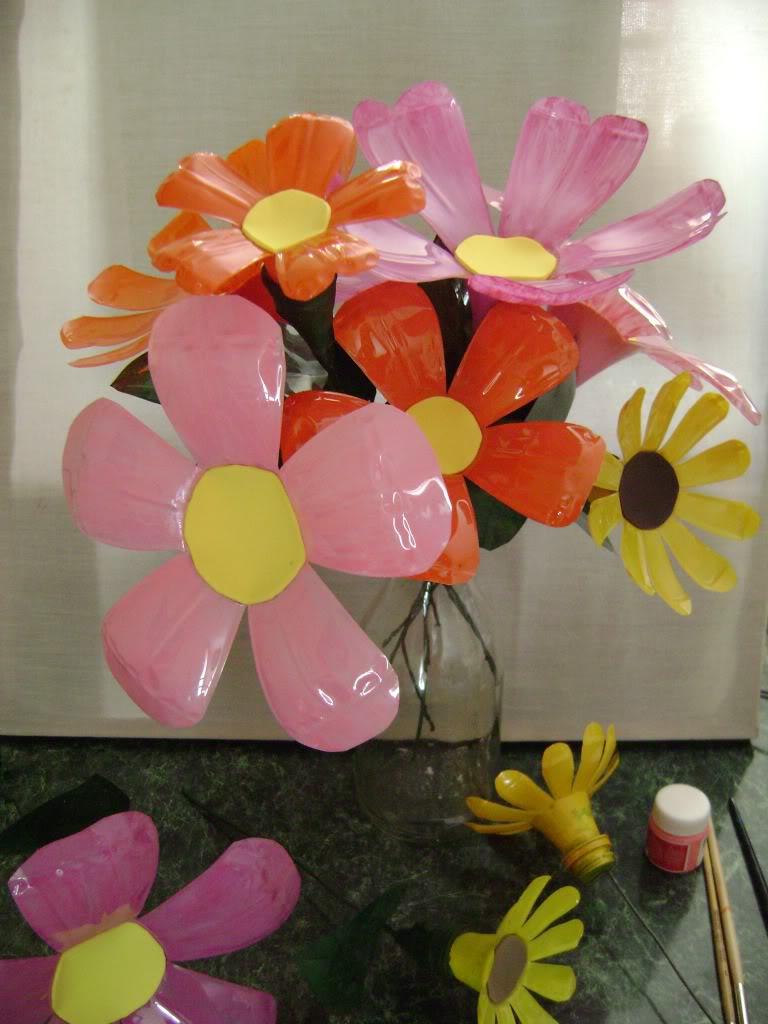 Trabajos de sharon flores de plastico for Plantas decorativas de plastico