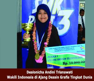 Dealonicha Andini Trisnawati Wakili Indonesia di Ajang Desain Grafis Tingkat Dunia