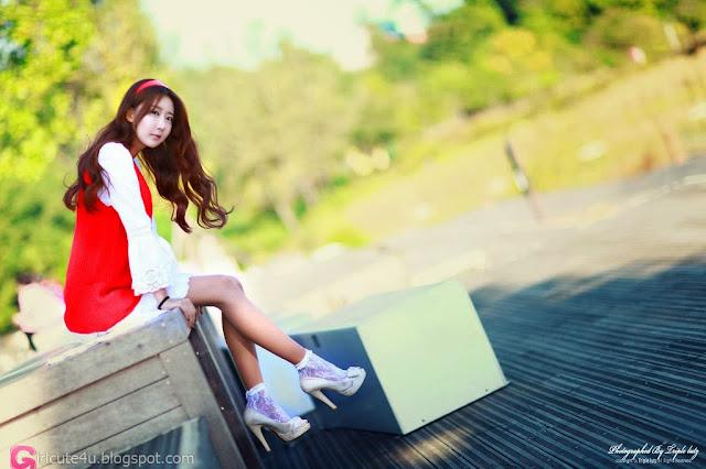 1 Park Hyun Sun outdoor - very cute asian girl-girlcute4u.blogspot.com