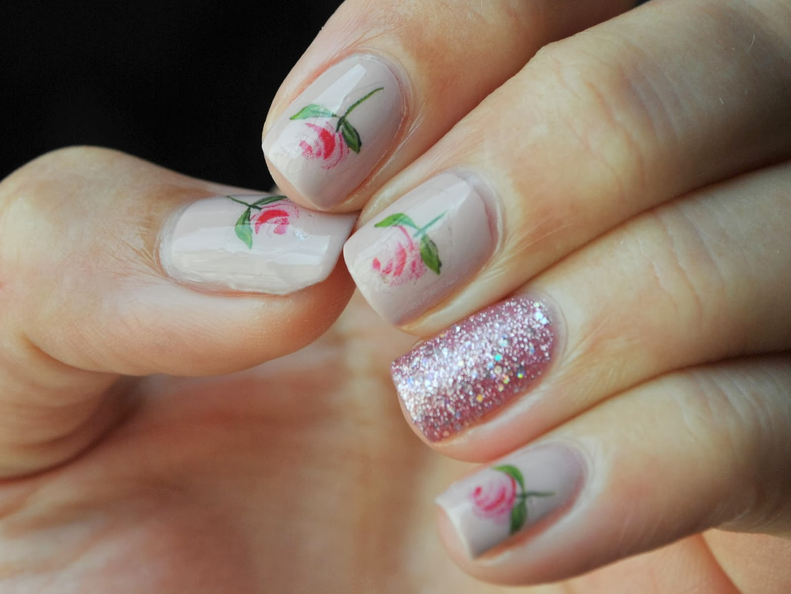Roses Water Decals from Moon Sugar Decals