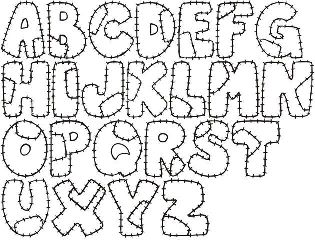 Moldes de letras grandes y bonitas - Imagui