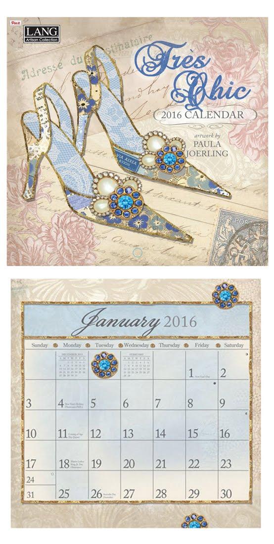 "2016 Lang ""Tres Chic"" Calendar"