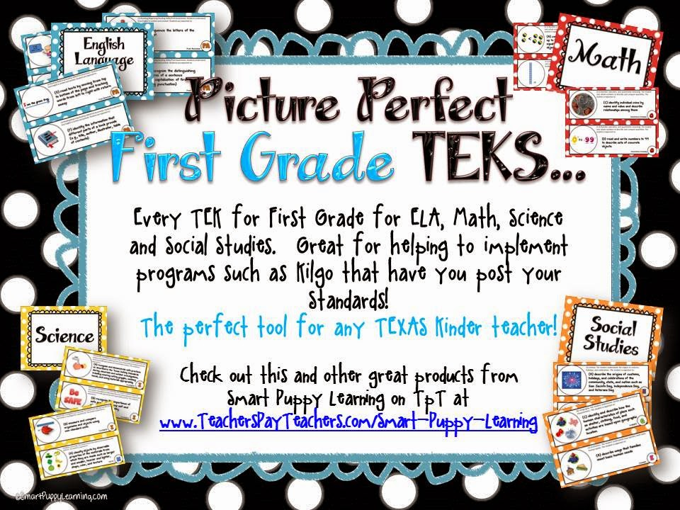 http://www.teacherspayteachers.com/Product/First-Grade-TEKS-Illustrated-and-Organized-733148