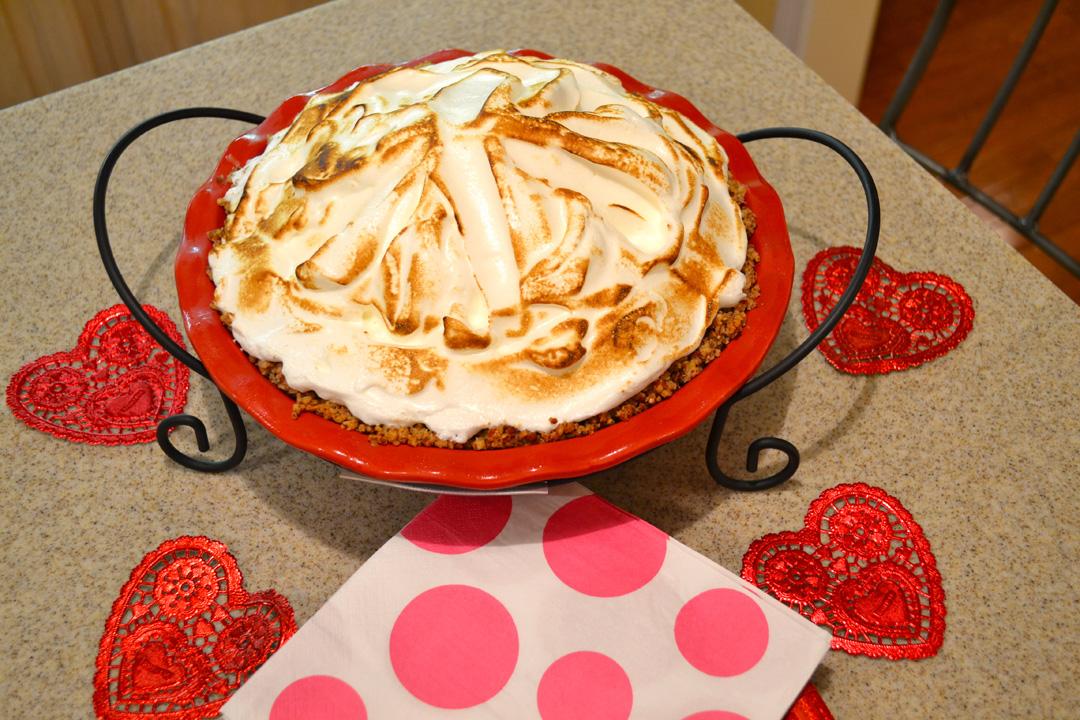 James...Lemon Meringue Ice Cream Pie in Toasted Pecan Crust