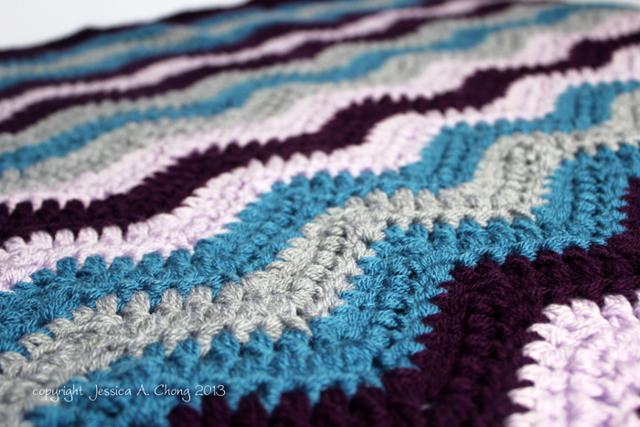 Free Crochet Pattern Baby Blanket Chevron : Sunny Stitching: Free Crochet Pattern for a Chevron Baby ...