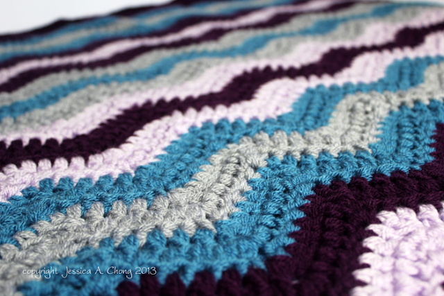 Free Pattern Crochet Chevron Baby Blanket : Sunny Stitching: Free Crochet Pattern for a Chevron Baby ...