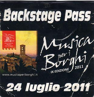 Pass Musica per i Borghi 2011