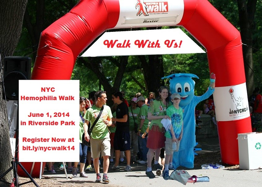The NYC Hemophilia Walk is On!