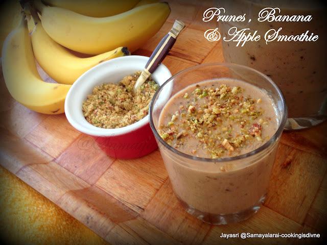 Prune, Banana & Apple Healthy smoothie