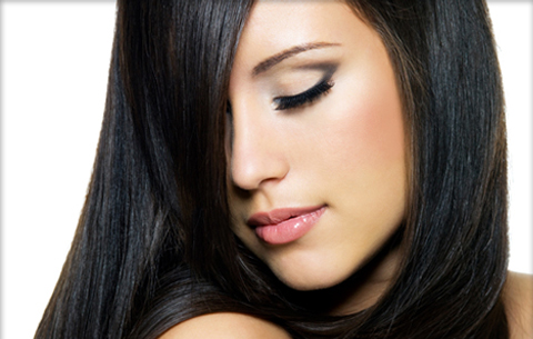 cabelos pretos bem cuidados
