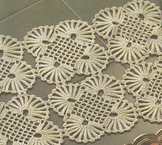 Салфетки из мотивов крючком схемы