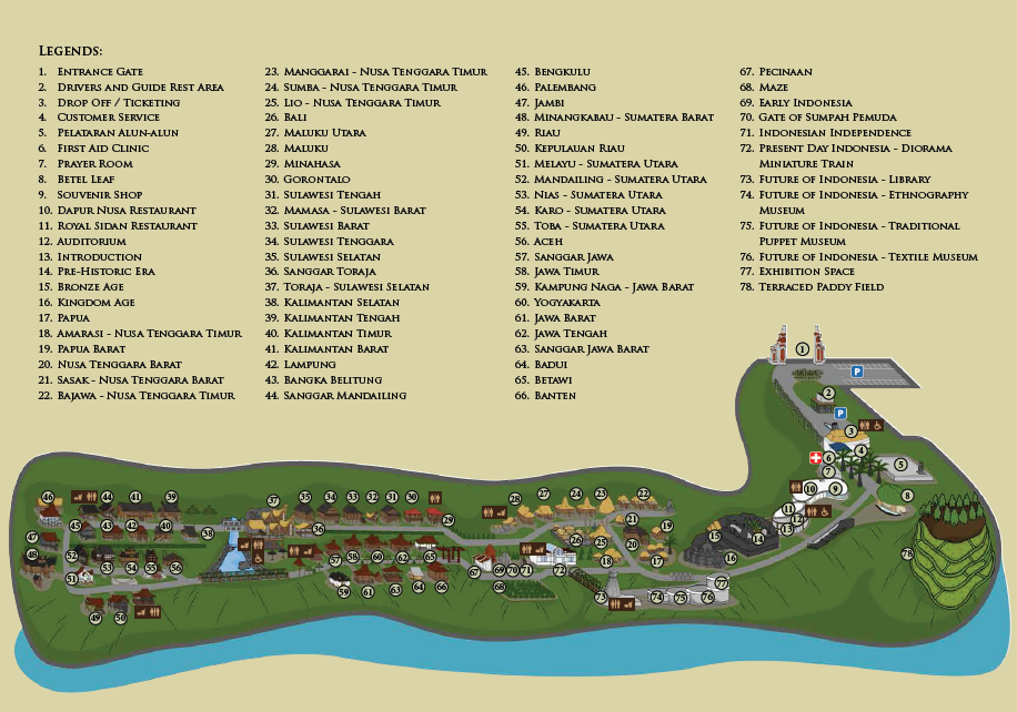 Peta Tempat Wisata Taman Nusa