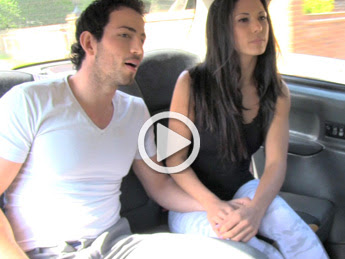 FakeTaxi | Spanish couple have hot sex in back of taxi