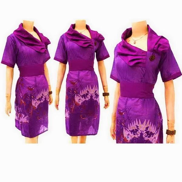 Dress batik wanita solo kode db 3204 batik bagoes solo Baju gamis nevada