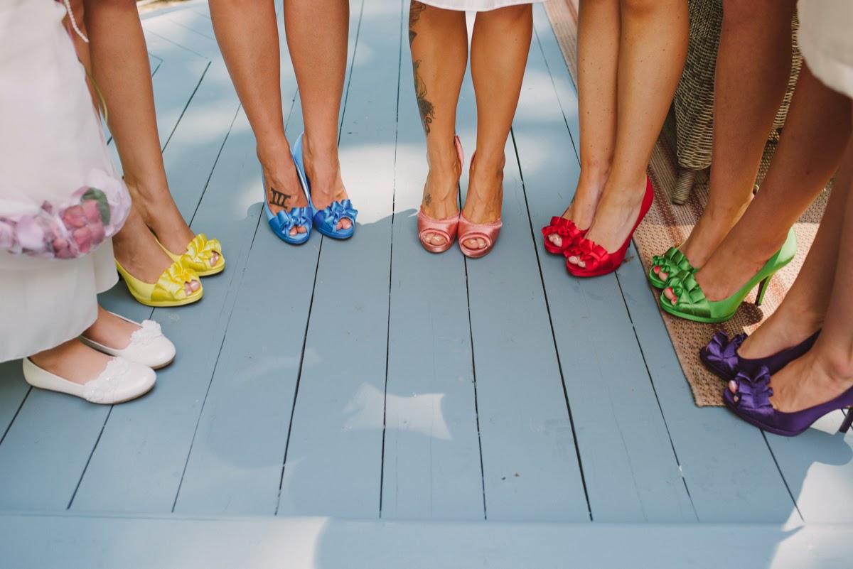 Coloridos zapatos de novia para la mujer de hoy