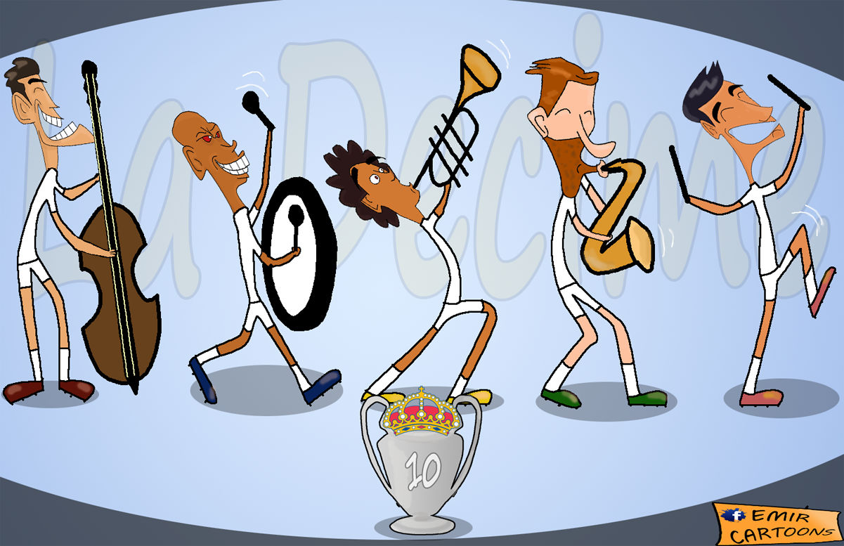 Real Madrid Atletico Madrid,La Decima!,liga pravaka,fudbal,karikature,emir,emir cartoon,emir cartoons,